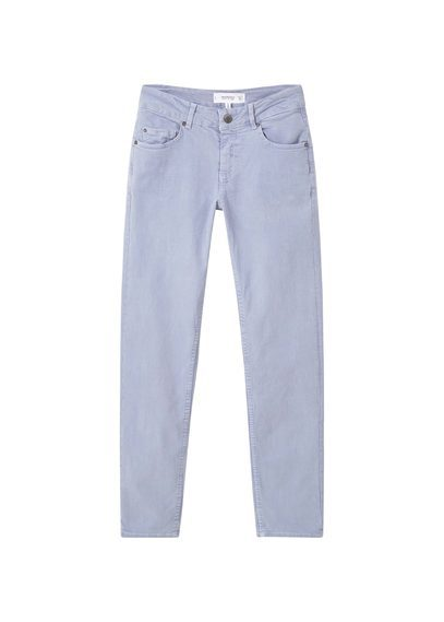 Straight Alice Jeans - style: straight leg; length: standard; pattern: plain; pocket detail: traditional 5 pocket; waist: mid/regular rise; predominant colour: lilac; occasions: casual, creative work; fibres: cotton - stretch; texture group: denim; pattern type: fabric; season: s/s 2016; wardrobe: highlight