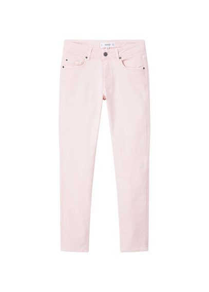 Straight Alice Jeans - style: straight leg; length: standard; pattern: plain; pocket detail: traditional 5 pocket; waist: mid/regular rise; predominant colour: blush; occasions: casual, creative work; fibres: cotton - stretch; texture group: denim; pattern type: fabric; season: s/s 2016