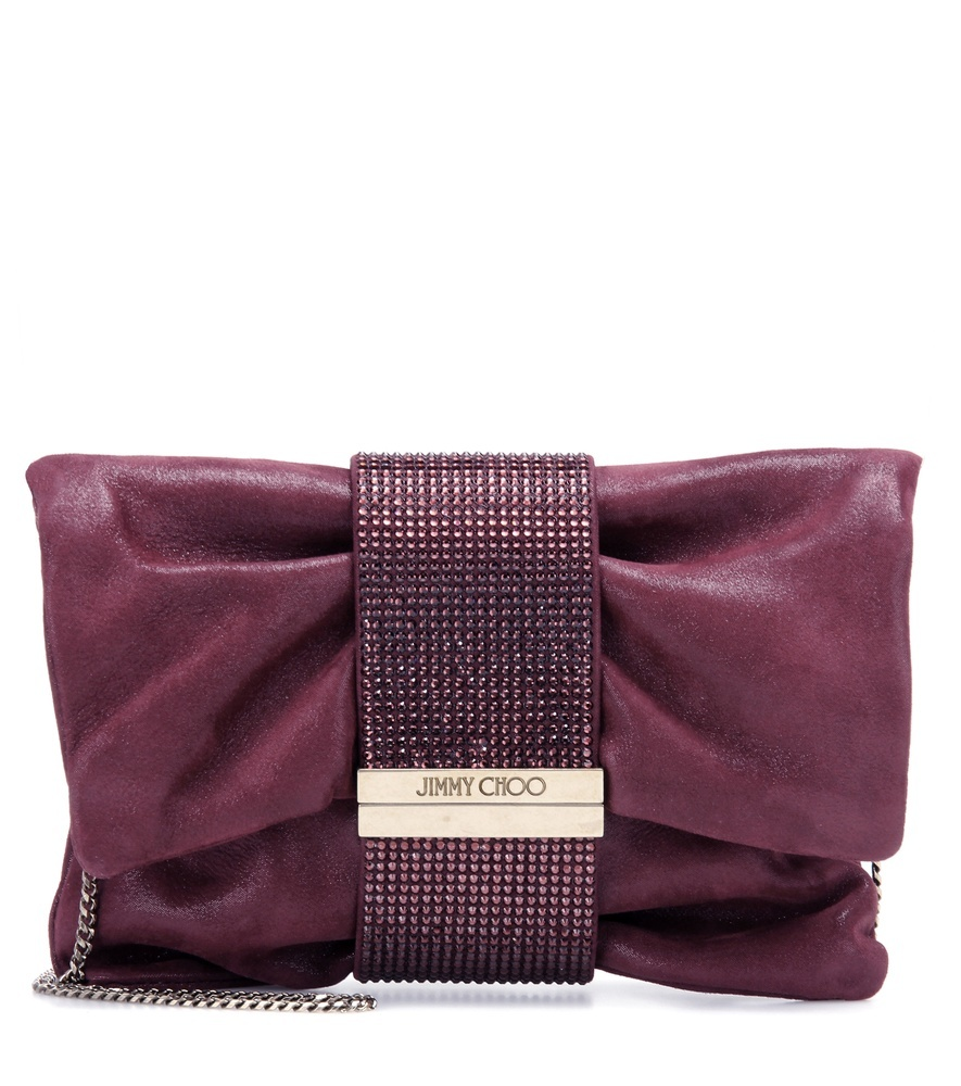 Chandra Suede Shoulder Bag - predominant colour: aubergine; type of pattern: standard; style: shoulder; length: handle; size: standard; material: leather; pattern: plain; finish: plain; embellishment: chain/metal; occasions: creative work; season: s/s 2016