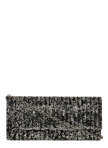 Womens Silver Mix Encrusted Clutch Bag Black - predominant colour: black; occasions: evening, occasion; type of pattern: standard; style: clutch; length: hand carry; size: standard; material: faux leather; embellishment: beading; pattern: plain; finish: metallic; season: s/s 2016; wardrobe: event