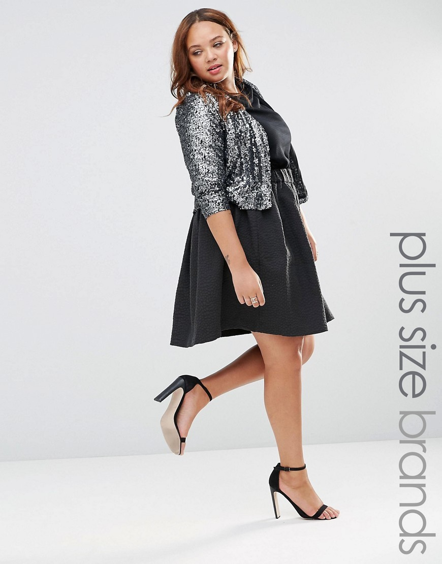 Cille Knee Length Skirt Black - pattern: plain; style: full/prom skirt; fit: loose/voluminous; waist: mid/regular rise; predominant colour: black; occasions: evening; length: just above the knee; fibres: cotton - mix; pattern type: fabric; texture group: woven light midweight; season: s/s 2016; wardrobe: event