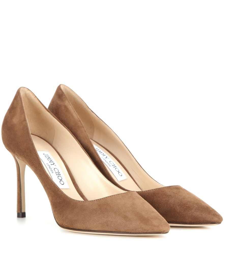 Romy 85 Suede Pumps - predominant colour: tan; occasions: evening, occasion, creative work; material: suede; heel: stiletto; toe: pointed toe; style: courts; finish: plain; pattern: plain; heel height: very high; season: s/s 2016; wardrobe: highlight