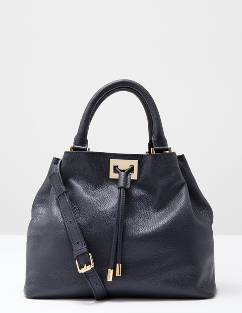 Drawstring Bag Navy Women Boden, Navy - predominant colour: navy; occasions: casual, work, creative work; type of pattern: standard; style: shoulder; length: shoulder (tucks under arm); size: standard; material: leather; pattern: plain; finish: plain; season: s/s 2016; wardrobe: investment
