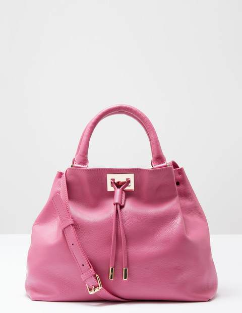 Drawstring Bag Hydrangea Women Boden, Hydrangea - predominant colour: hot pink; type of pattern: standard; style: shoulder; length: shoulder (tucks under arm); size: standard; material: leather; pattern: plain; finish: plain; occasions: creative work; season: s/s 2016