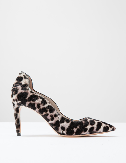 Wave High Court Snow Leopard Pony Women, Snow Leopard Pony - predominant colour: black; occasions: evening, work, creative work; material: animal skin; heel height: high; heel: stiletto; toe: pointed toe; style: courts; finish: plain; pattern: animal print; season: s/s 2016; wardrobe: highlight