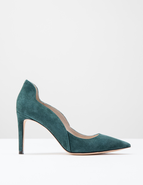 Wave High Court Emerald Night Suede Women, Emerald Night Suede - predominant colour: dark green; occasions: evening, occasion, creative work; material: suede; heel: stiletto; toe: pointed toe; style: courts; finish: plain; pattern: plain; heel height: very high; season: s/s 2016; wardrobe: highlight