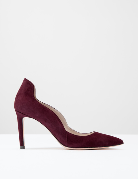 Wave High Court Dark Burgundy Suede Women, Dark Burgundy Suede - predominant colour: burgundy; occasions: evening, occasion, creative work; material: suede; heel: stiletto; toe: pointed toe; style: courts; finish: plain; pattern: plain; heel height: very high; season: s/s 2016