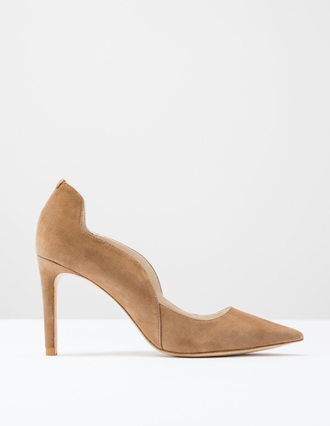 Wave High Court Camel Suede Women, Camel Suede - predominant colour: camel; occasions: evening, occasion, creative work; material: suede; heel: stiletto; toe: pointed toe; style: courts; finish: plain; pattern: plain; heel height: very high; season: s/s 2016; wardrobe: highlight