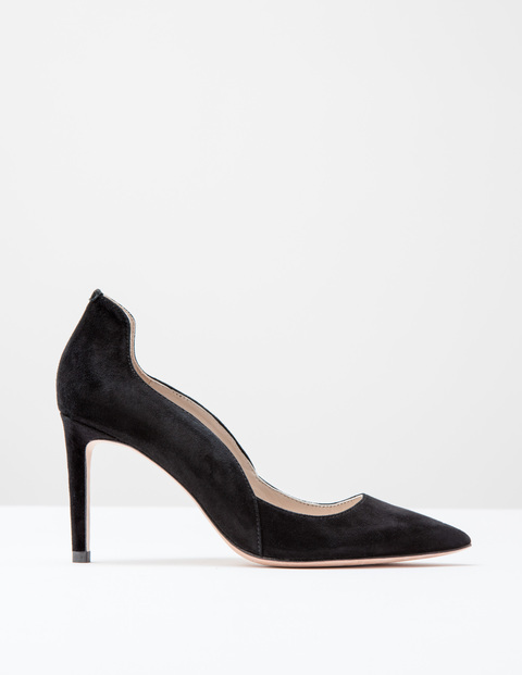 Wave High Court Black Suede Women, Black Suede - predominant colour: black; occasions: evening, work, occasion; material: suede; heel: stiletto; toe: pointed toe; style: courts; finish: plain; pattern: plain; heel height: very high; season: s/s 2016; wardrobe: highlight