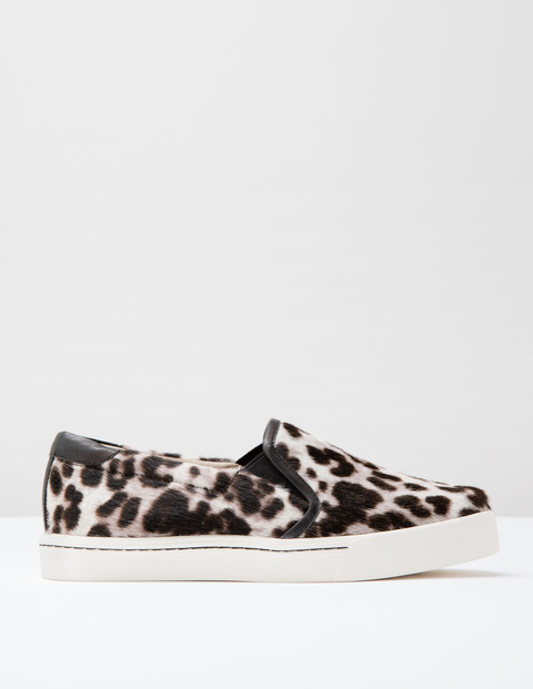Slip On Trainer Snow Leopard Pony Women, Snow Leopard Pony - secondary colour: ivory/cream; predominant colour: black; occasions: casual; material: animal skin; heel height: flat; toe: round toe; finish: plain; pattern: animal print; shoe detail: moulded soul; style: skate shoes; season: s/s 2016; wardrobe: highlight