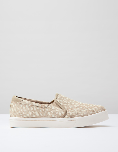 Slip On Trainer Ivory Spot Pony Women, Ivory Spot Pony - secondary colour: white; predominant colour: ivory/cream; occasions: casual; material: fabric; heel height: flat; toe: round toe; finish: plain; pattern: patterned/print; shoe detail: moulded soul; style: skate shoes; season: s/s 2016; wardrobe: highlight