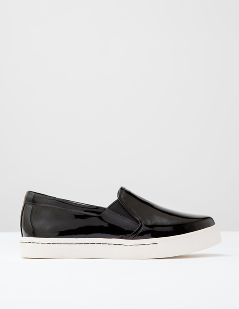 Slip On Trainer Black Patent Women, Black Patent - predominant colour: black; occasions: casual; material: faux leather; heel height: flat; toe: round toe; style: trainers; finish: plain; pattern: plain; shoe detail: platform; season: s/s 2016; wardrobe: highlight