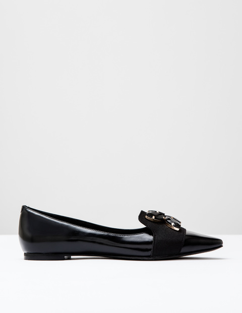 Wow Jewelled Flats Black Box Shine Women, Black Box Shine - predominant colour: black; occasions: casual, work, creative work; material: leather; heel height: flat; embellishment: jewels/stone; toe: pointed toe; style: ballerinas / pumps; finish: plain; pattern: plain; season: s/s 2016; wardrobe: basic
