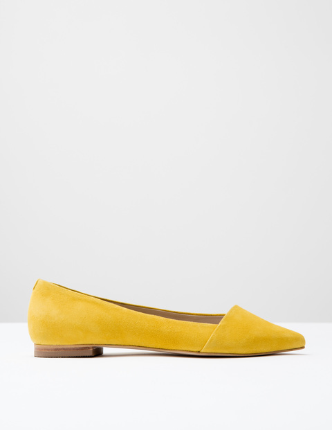 Patti Flat Point Yellow Suede Women, Yellow Suede - predominant colour: yellow; occasions: casual, creative work; material: suede; heel height: flat; toe: pointed toe; style: ballerinas / pumps; finish: plain; pattern: plain; season: s/s 2016; wardrobe: highlight