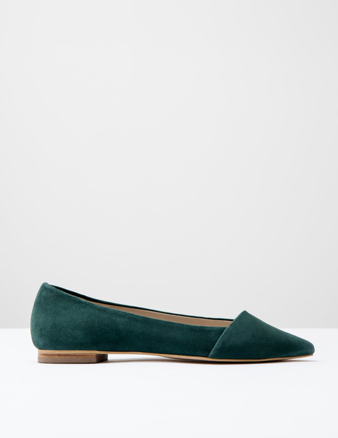 Patti Flat Point Emerald Night Suede Women, Emerald Night Suede - predominant colour: dark green; occasions: casual, creative work; material: suede; heel height: flat; toe: pointed toe; style: ballerinas / pumps; finish: plain; pattern: plain; season: s/s 2016; wardrobe: highlight