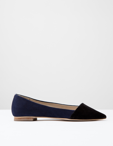 Patti Flat Point Black/Navy Suede Women, Black/Navy Suede - predominant colour: black; occasions: casual, work, creative work; material: suede; heel height: flat; toe: pointed toe; style: ballerinas / pumps; finish: plain; pattern: plain; season: s/s 2016; wardrobe: basic