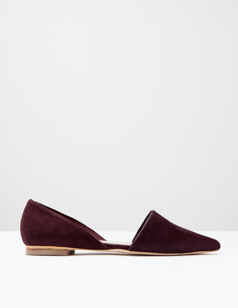 Cleo Flat Point Oxblood Pony/Suede Women, Oxblood Pony/Suede - predominant colour: burgundy; occasions: casual, creative work; material: suede; heel height: flat; toe: pointed toe; style: ballerinas / pumps; finish: plain; pattern: plain; season: s/s 2016; wardrobe: highlight