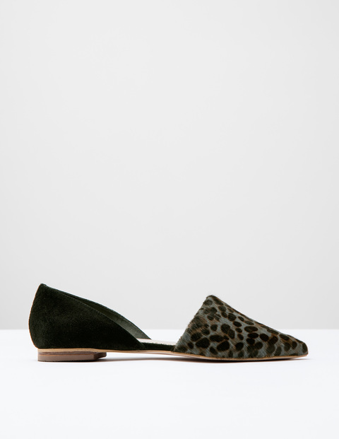 Cleo Flat Point Khaki Pony/Black Suede Women, Khaki Pony/Black Suede - predominant colour: black; occasions: casual, creative work; material: suede; heel height: flat; toe: pointed toe; style: ballerinas / pumps; finish: plain; pattern: animal print; season: s/s 2016; wardrobe: highlight