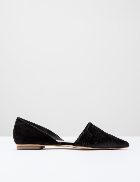 Cleo Flat Point Black Pony/Suede Women, Black Pony/Suede - predominant colour: black; occasions: casual, work, creative work; material: suede; heel height: flat; toe: pointed toe; style: ballerinas / pumps; finish: plain; pattern: plain; season: s/s 2016