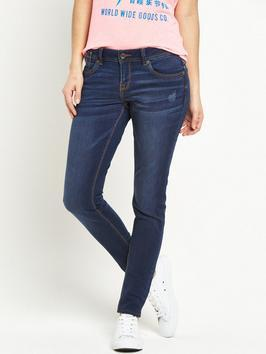 Cassie Skinny Jean Moonlight Blue - style: skinny leg; length: standard; pattern: plain; pocket detail: traditional 5 pocket; waist: mid/regular rise; predominant colour: denim; occasions: casual; fibres: cotton - stretch; texture group: denim; pattern type: fabric; season: s/s 2016; wardrobe: basic