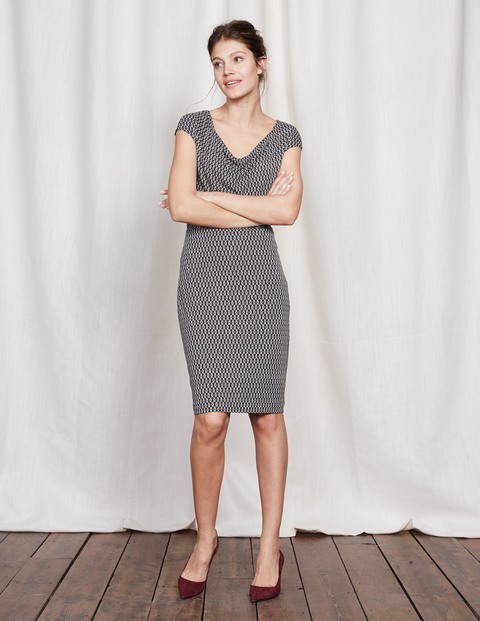 Cowl Neck Dress Raven Loops Women, Raven Loops - style: shift; neckline: cowl/draped neck; sleeve style: capped; pattern: plain; bust detail: subtle bust detail; predominant colour: mid grey; occasions: evening; length: on the knee; fit: body skimming; fibres: viscose/rayon - stretch; sleeve length: short sleeve; pattern type: fabric; texture group: jersey - stretchy/drapey; season: s/s 2016; wardrobe: event