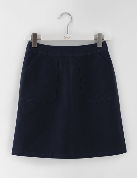 Annabel Skirt Navy Women, Navy - length: mid thigh; pattern: plain; fit: loose/voluminous; waist: mid/regular rise; predominant colour: navy; occasions: casual, work, creative work; style: a-line; fibres: cotton - 100%; pattern type: fabric; texture group: woven light midweight; season: s/s 2016; wardrobe: basic