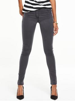 High Rise Ella Supersoft Skinny Jeans - style: skinny leg; length: standard; pattern: plain; pocket detail: traditional 5 pocket; waist: mid/regular rise; predominant colour: charcoal; occasions: casual; fibres: cotton - stretch; texture group: denim; pattern type: fabric; season: s/s 2016; wardrobe: highlight