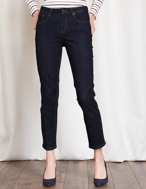 Cambridge Ankle Skimmer Jeans Indigo Women, Indigo - pattern: plain; waist: high rise; style: slim leg; predominant colour: navy; occasions: casual; length: ankle length; fibres: cotton - 100%; jeans detail: dark wash; texture group: denim; pattern type: fabric; season: s/s 2016; wardrobe: basic