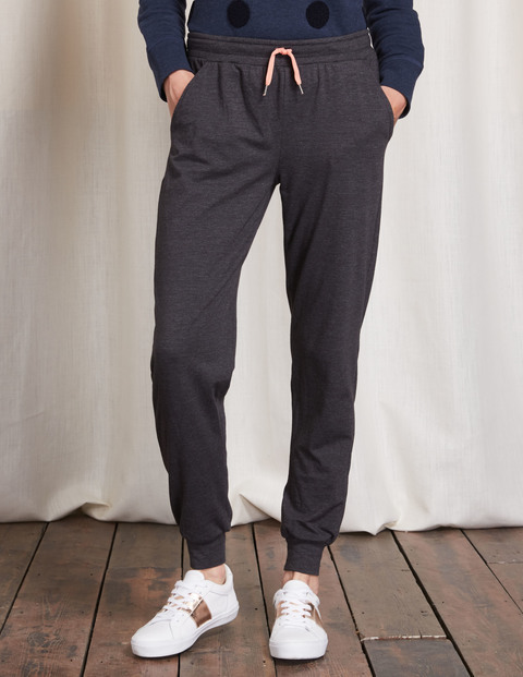 Loose Trouser Charcoal Marl Women, Charcoal Marl - length: standard; pattern: plain; style: tracksuit pants; waist: mid/regular rise; predominant colour: charcoal; occasions: casual; fibres: cotton - stretch; fit: tapered; pattern type: fabric; texture group: other - light to midweight; season: s/s 2016; wardrobe: basic