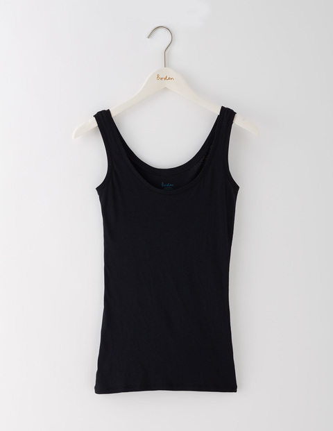 Featherweight Vest Black Women, Black - neckline: round neck; pattern: plain; sleeve style: sleeveless; style: vest top; predominant colour: black; occasions: casual; length: standard; fibres: cotton - stretch; fit: body skimming; sleeve length: sleeveless; pattern type: fabric; texture group: jersey - stretchy/drapey; season: s/s 2016; wardrobe: basic