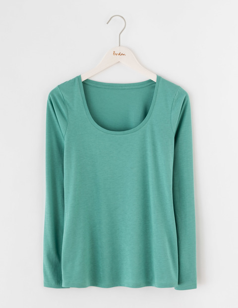 Supersoft Scoop Tee Csarite Women, Csarite - neckline: round neck; pattern: plain; style: t-shirt; predominant colour: mint green; occasions: casual; length: standard; fibres: cotton - mix; fit: body skimming; sleeve length: long sleeve; sleeve style: standard; pattern type: fabric; texture group: jersey - stretchy/drapey; season: s/s 2016