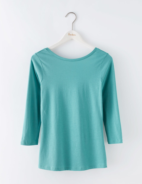 Supersoft Ballet Back Top Csarite Women, Csarite - neckline: round neck; pattern: plain; predominant colour: turquoise; occasions: casual, creative work; length: standard; style: top; fibres: cotton - mix; fit: body skimming; sleeve length: 3/4 length; sleeve style: standard; pattern type: fabric; texture group: jersey - stretchy/drapey; season: s/s 2016; wardrobe: highlight