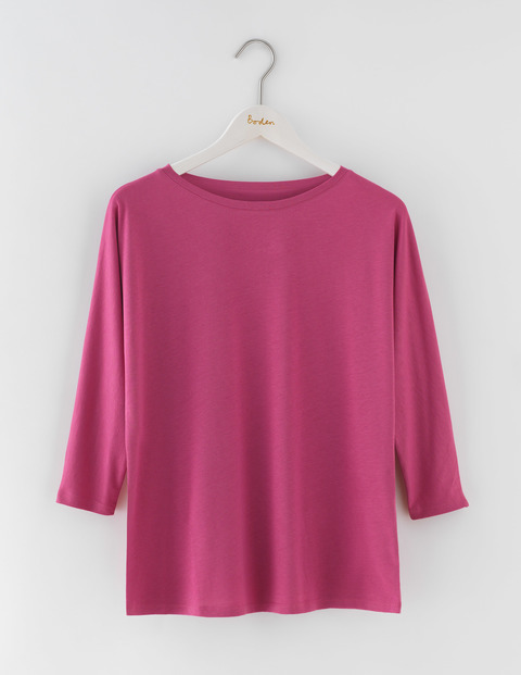 Supersoft Oversized Top Hydrangea Women, Hydrangea - pattern: plain; predominant colour: hot pink; occasions: casual; length: standard; style: top; fibres: cotton - 100%; fit: body skimming; neckline: crew; sleeve length: 3/4 length; sleeve style: standard; pattern type: fabric; texture group: jersey - stretchy/drapey; season: s/s 2016; wardrobe: highlight