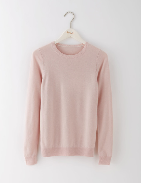 Cashmere Crew Neck Jumper Pink Pearl Women, Pink Pearl - pattern: plain; style: standard; predominant colour: blush; occasions: casual, creative work; length: standard; fit: standard fit; neckline: crew; fibres: cashmere - 100%; sleeve length: long sleeve; sleeve style: standard; texture group: knits/crochet; pattern type: knitted - fine stitch; season: s/s 2016; wardrobe: investment