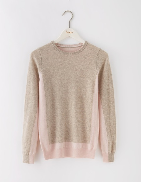 Cashmere Crew Neck Jumper Chinchilla/Pink Pearl Women, Chinchilla/Pink Pearl - pattern: plain; style: standard; secondary colour: blush; predominant colour: stone; occasions: casual; length: standard; fit: slim fit; neckline: crew; fibres: cashmere - 100%; sleeve length: long sleeve; sleeve style: standard; texture group: knits/crochet; pattern type: knitted - fine stitch; multicoloured: multicoloured; season: s/s 2016; wardrobe: investment