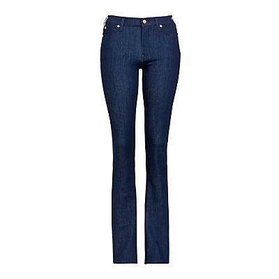 Kimmie Straight Bi Stretch Jeans, Spring Valley - style: straight leg; length: standard; pattern: plain; pocket detail: traditional 5 pocket; waist: mid/regular rise; predominant colour: navy; occasions: casual; fibres: cotton - stretch; texture group: denim; pattern type: fabric; season: s/s 2016; wardrobe: basic