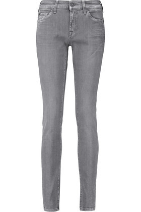 Cristen Low Rise Skinny Jeans Gray - style: skinny leg; length: standard; pattern: plain; waist: low rise; pocket detail: traditional 5 pocket; predominant colour: light grey; occasions: casual; fibres: cotton - stretch; texture group: denim; pattern type: fabric; season: s/s 2016; wardrobe: highlight