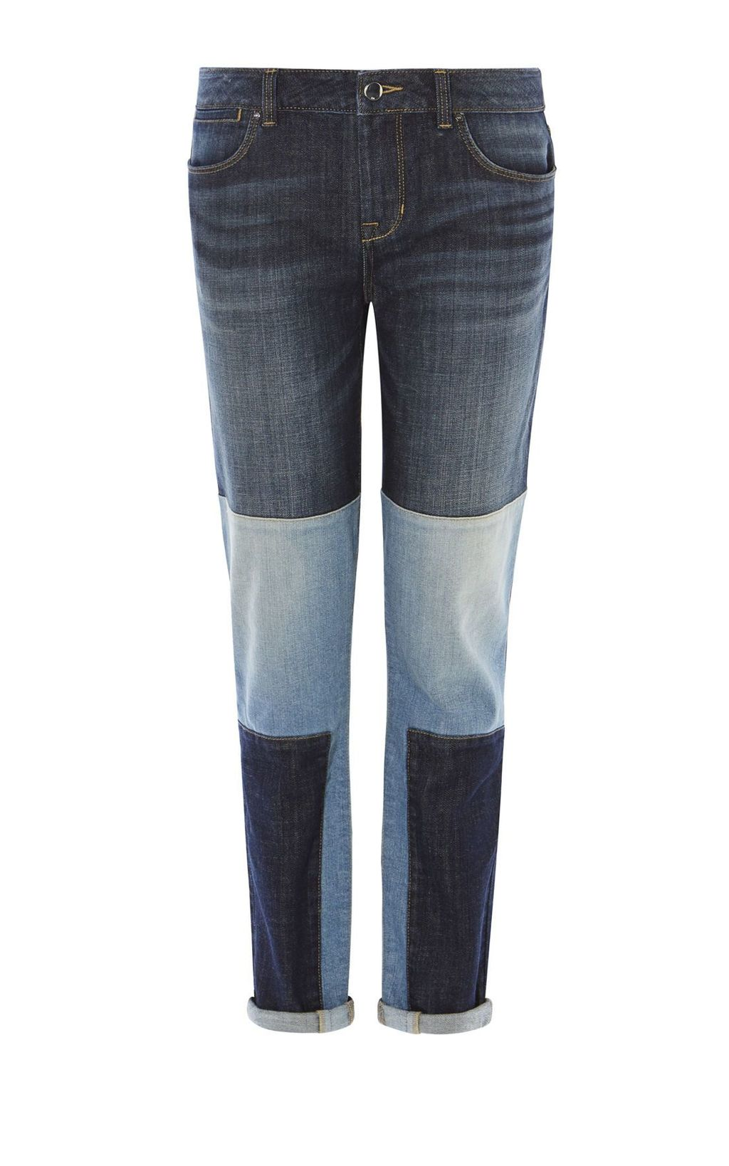 Patchwork Jeans, Denim Indigo - length: standard; pattern: plain; pocket detail: traditional 5 pocket; style: slim leg; waist: mid/regular rise; secondary colour: pale blue; predominant colour: navy; occasions: casual; fibres: cotton - stretch; jeans detail: whiskering; texture group: denim; pattern type: fabric; multicoloured: multicoloured; season: s/s 2016; wardrobe: basic