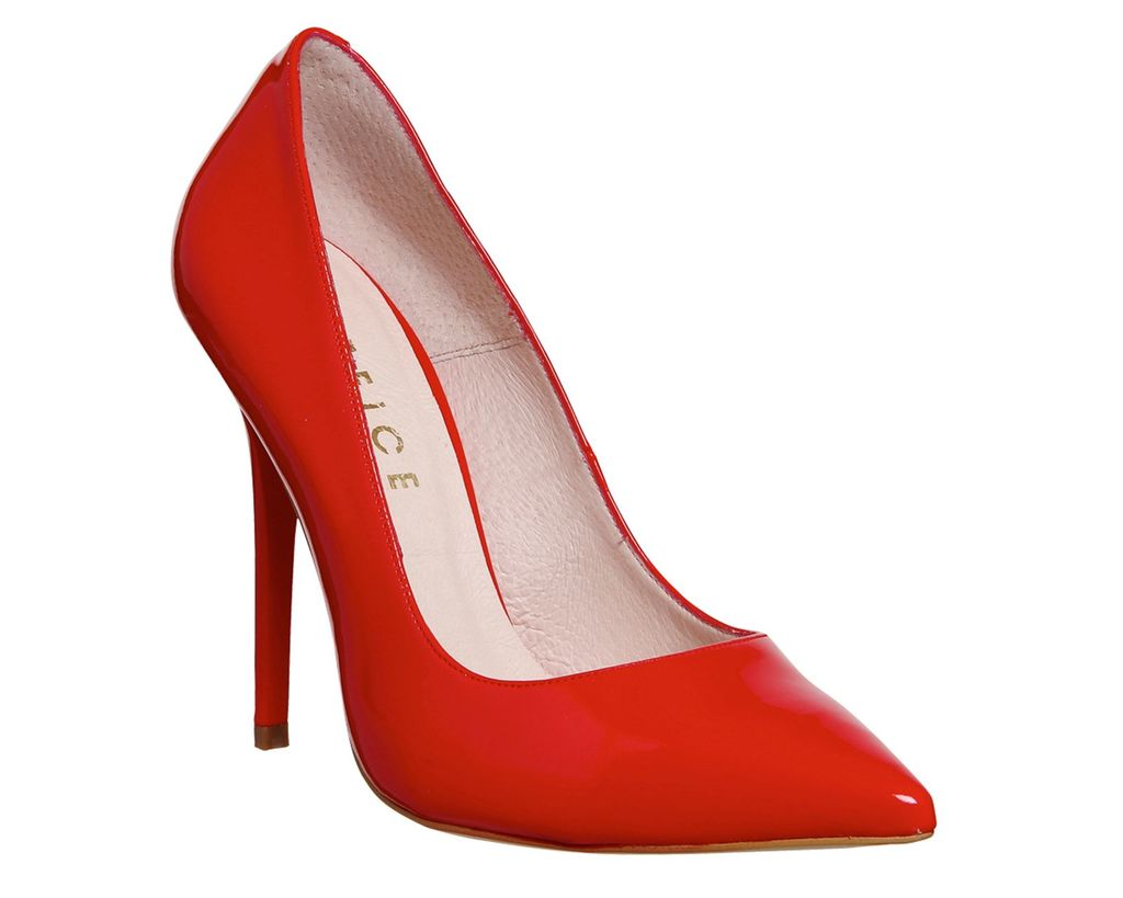 Onto Point Courts, Red - predominant colour: true red; occasions: evening, occasion, creative work; material: suede; heel: stiletto; toe: pointed toe; style: courts; finish: plain; pattern: plain; heel height: very high; season: s/s 2016; wardrobe: highlight