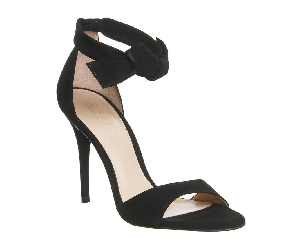 Act Tie Ankle Sandals, Black Leather - predominant colour: black; occasions: evening, occasion; material: suede; ankle detail: ankle strap; heel: stiletto; toe: open toe/peeptoe; style: strappy; finish: plain; pattern: plain; heel height: very high; season: s/s 2016; wardrobe: event