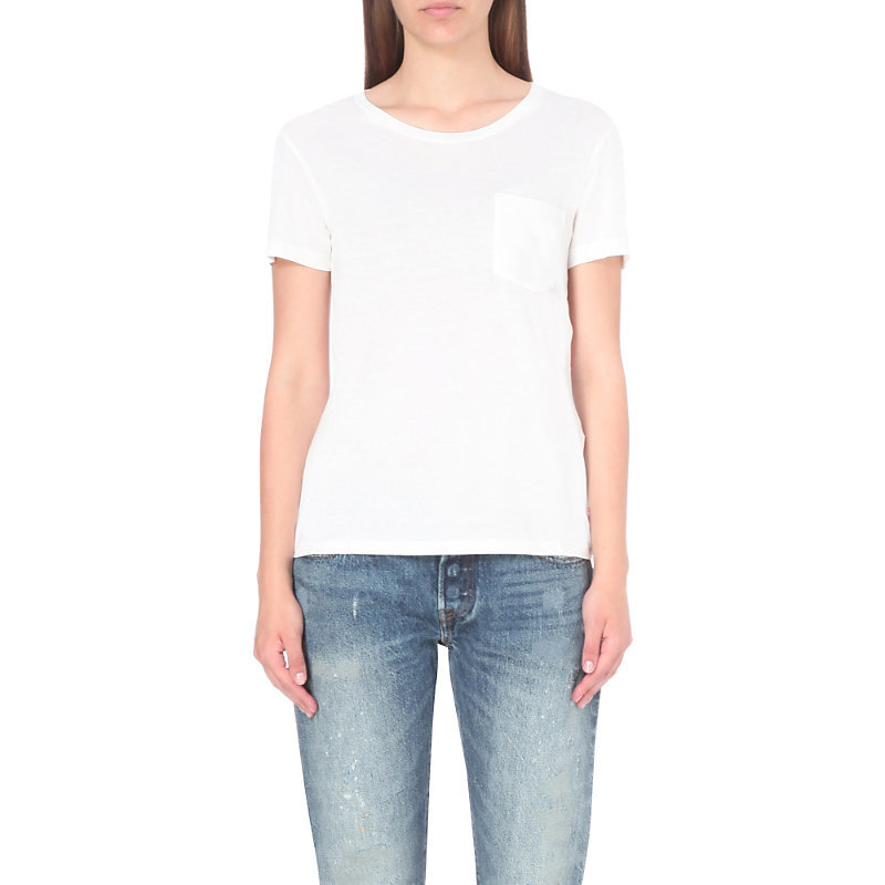 The Perfect Cotton Jersey T Shirt, Women's, Size: Medium, White - pattern: plain; style: t-shirt; predominant colour: white; occasions: casual; length: standard; fibres: cotton - 100%; fit: body skimming; neckline: crew; sleeve length: short sleeve; sleeve style: standard; pattern type: fabric; texture group: jersey - stretchy/drapey; season: s/s 2016