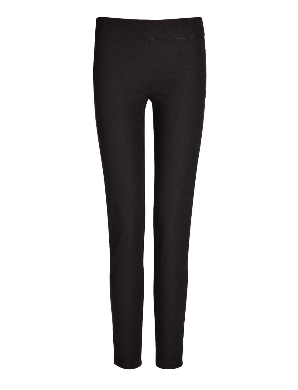 Gabardine Stretch Legging In Black - length: standard; pattern: plain; style: leggings; waist: mid/regular rise; predominant colour: black; occasions: casual, creative work; fibres: polyester/polyamide - stretch; texture group: jersey - clingy; fit: skinny/tight leg; pattern type: fabric; season: s/s 2016; wardrobe: basic