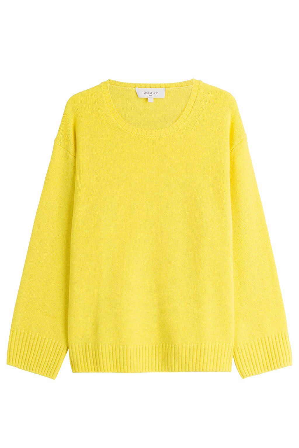 Cashmere Pullover Yellow - pattern: plain; style: standard; predominant colour: yellow; occasions: casual; length: standard; fit: standard fit; neckline: crew; fibres: cashmere - 100%; sleeve length: long sleeve; sleeve style: standard; texture group: knits/crochet; pattern type: knitted - fine stitch; season: s/s 2016