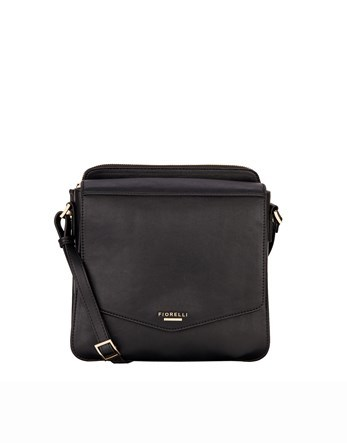 Cross Body Bag - predominant colour: black; occasions: casual, work, creative work; type of pattern: standard; style: shoulder; length: shoulder (tucks under arm); size: standard; material: leather; pattern: plain; finish: plain; season: s/s 2016; wardrobe: investment
