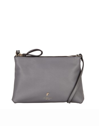 Cross Body Bag - predominant colour: silver; occasions: casual; type of pattern: standard; style: messenger; length: across body/long; size: standard; material: leather; pattern: plain; finish: plain; season: s/s 2016; wardrobe: highlight