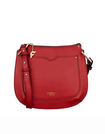 Saddle Bag - predominant colour: true red; occasions: casual; type of pattern: standard; style: messenger; length: across body/long; size: small; material: leather; pattern: plain; finish: plain; season: s/s 2016; wardrobe: highlight