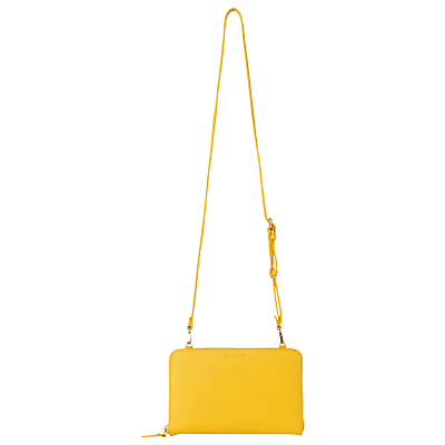 Union Double Zip Bag, Yellow/Multi - predominant colour: yellow; occasions: casual, creative work; type of pattern: standard; style: shoulder; length: shoulder (tucks under arm); size: mini; material: leather; pattern: plain; finish: plain; season: s/s 2016; wardrobe: highlight