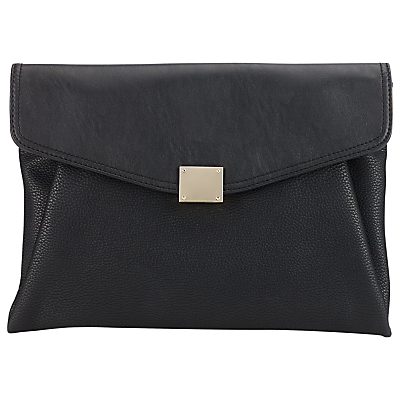 Soft Foldover Clutch - predominant colour: black; occasions: evening; type of pattern: standard; style: clutch; length: hand carry; size: small; material: suede; pattern: plain; finish: plain; season: s/s 2016; wardrobe: event