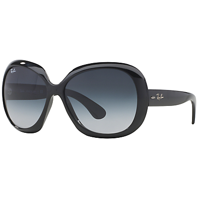 Rb4098 Jackie Ohh Ii Oversized Sunglasses - predominant colour: black; style: square; size: large; material: plastic/rubber; pattern: plain; occasions: holiday; finish: plain; season: s/s 2016