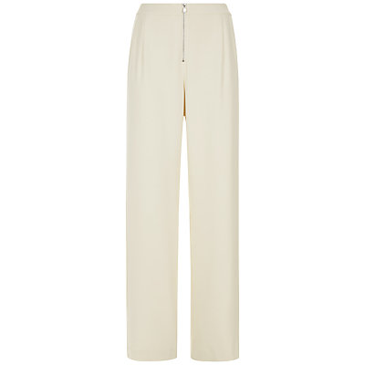 Side Panel Trousers, Natural - length: standard; pattern: plain; waist: high rise; predominant colour: ivory/cream; fibres: polyester/polyamide - stretch; occasions: occasion; fit: straight leg; pattern type: fabric; texture group: woven light midweight; style: standard; season: s/s 2016